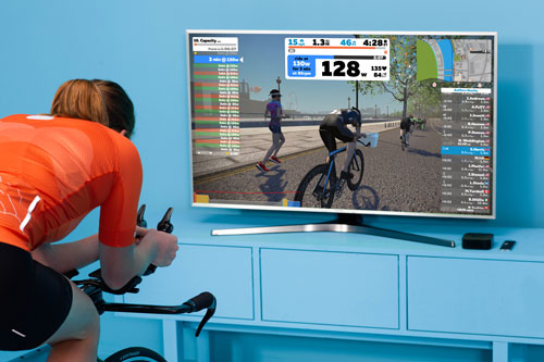 zwift photo cycling